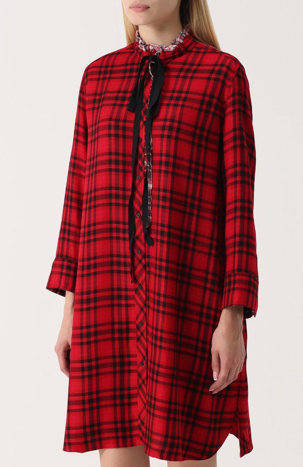 31ec7b39e7f4c57 Платье свободного кроя в контрастную полоску Zadig&Voltaire красное | Фото  №3