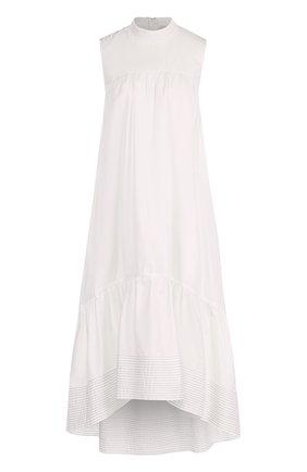 Платье прямого кроя с оборками | Фото №1