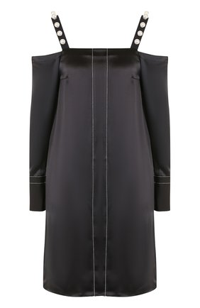 Шелковое платье-миди с открытыми плечами | Фото №1
