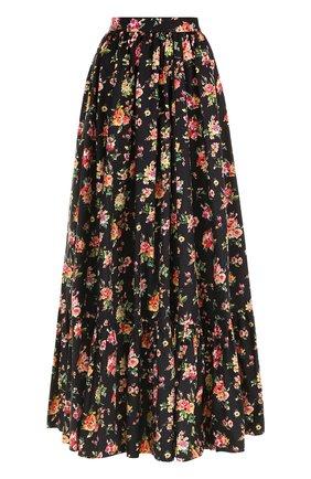 Юбка-макси с цветочным принтом Dolce & Gabbana разноцветная | Фото №1