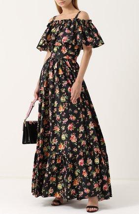 Юбка-макси с цветочным принтом Dolce & Gabbana разноцветная | Фото №2