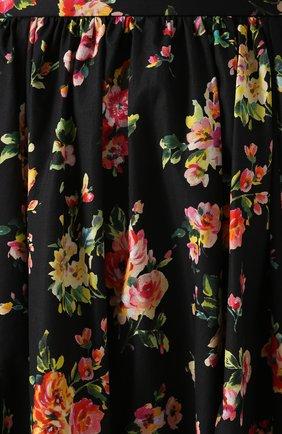 Юбка-макси с цветочным принтом Dolce & Gabbana разноцветная | Фото №5