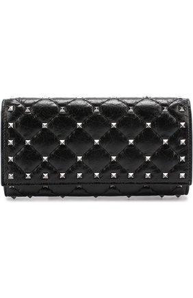 Кожаный кошелек Rockstud Spike с металлическими заклепками | Фото №1