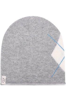 Кашемировая шапка с узором | Фото №1