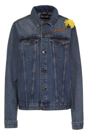 Джинсовая куртка с вышивкой Dalood темно-синяя   Фото №1