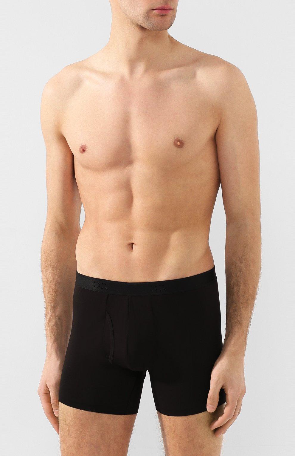 Мужские хлопковые боксеры DEREK ROSE черного цвета, арт. 8545-JACK001 | Фото 2 (Кросс-КТ: бельё; Материал внешний: Хлопок; Мужское Кросс-КТ: Трусы; Статус проверки: Проверена категория)