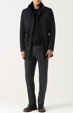 Мужской шерстяные брюки CANALI серого цвета, арт. 71012/AN00019 | Фото 2