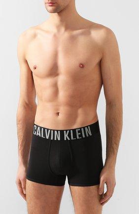 Мужские хлопковые боксеры CALVIN KLEIN черного цвета, арт. NB1042A | Фото 2