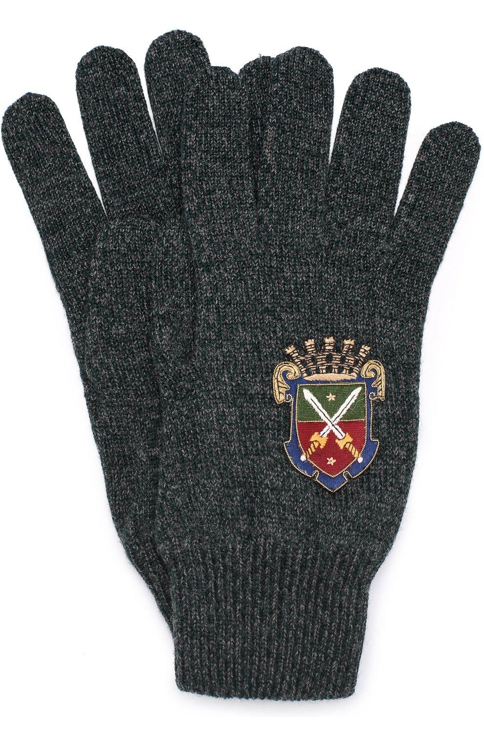 Шерстяные перчатки с вышивкой | Фото №1