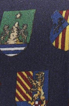 Шелковый галстук с принтом Dolce & Gabbana темно-синего цвета | Фото №3