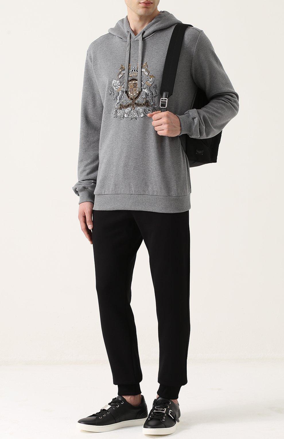 Хлопковое худи с вышивкой | Фото №2