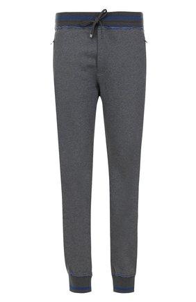 Хлопковые джоггеры с вышивкой Dolce & Gabbana светло-серые   Фото №1