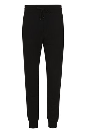 Хлопковые джоггеры с вышивкой Dolce & Gabbana черные | Фото №1
