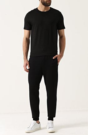 Хлопковые джоггеры с вышивкой Dolce & Gabbana черные | Фото №2