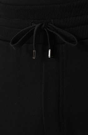 Хлопковые джоггеры с вышивкой Dolce & Gabbana черные | Фото №5