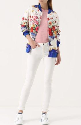 Бомбер на молнии с принтом Dolce & Gabbana разноцветная | Фото №2