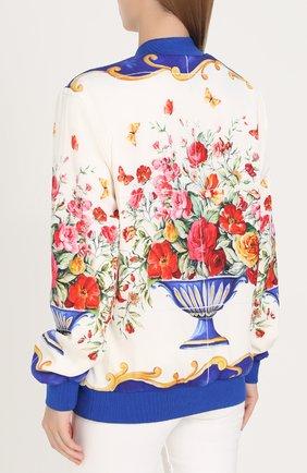 Бомбер на молнии с принтом Dolce & Gabbana разноцветная | Фото №4