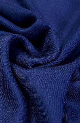 Мужской кашемировый шарф с необработанным краем RALPH LAUREN синего цвета, арт. 791654413 | Фото 2