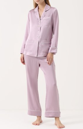 Шелковая пижама Olivia Von Halle сиреневая | Фото №1