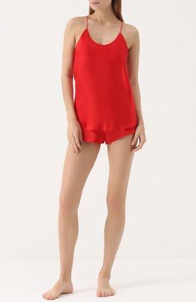 Шелковая пижама Olivia Von Halle красная | Фото №1