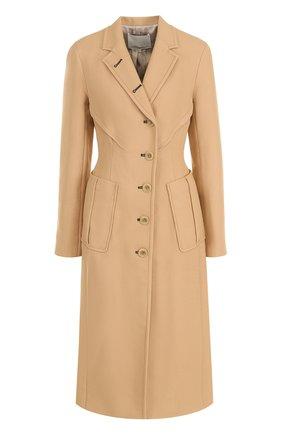 Однобортное пальто с отложным воротником 3.1 Phillip Lim бежевого цвета | Фото №1