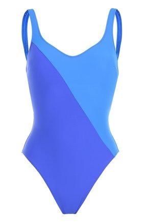Слитный купальник с контрастной вставкой Araks синий | Фото №1