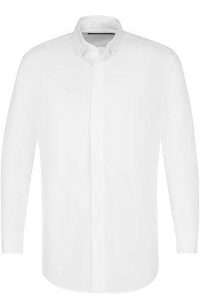 Хлопковая рубашка с воротником-стойкой | Фото №1