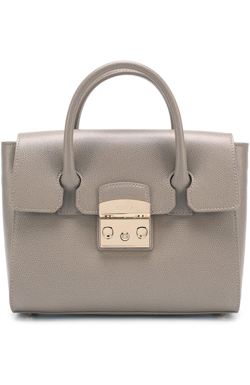 Женская сумка-тоут metropolis FURLA серого цвета — купить за 29000 ... 5628caa3e5f