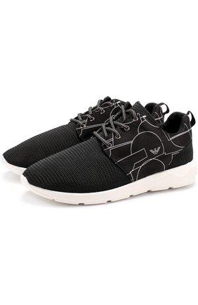 Текстильные кроссовки с принтом   Фото №1