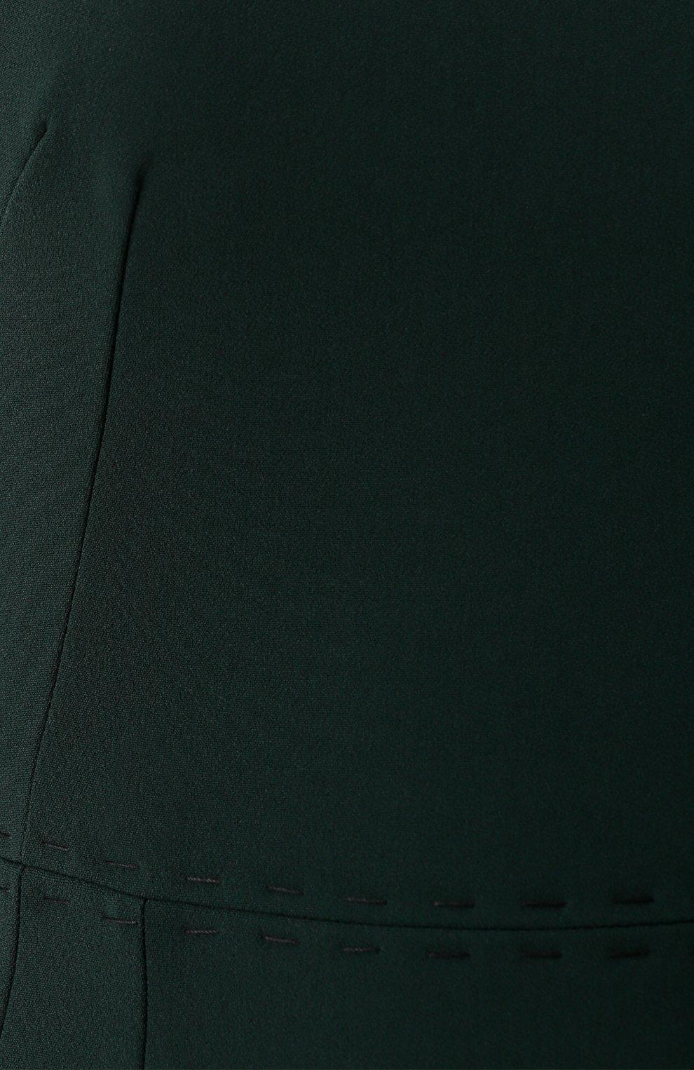 Приталенное платье-миди с контрастной прострочкой Dolce & Gabbana зеленое | Фото №5