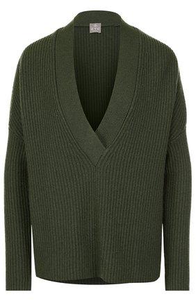 Кашемировый пуловер свободного кроя   Фото №1