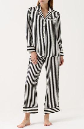 Шелковая пижама в контрастную полоску | Фото №1