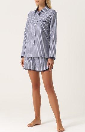 Пижамная блуза из хлопка Skin фиолетовая | Фото №1