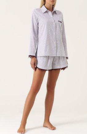 Пижамные шорты из хлопка Skin фиолетовая | Фото №1