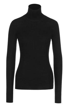 Вязаная водолазка из смеси кашемира и шелка Dolce & Gabbana черная | Фото №1