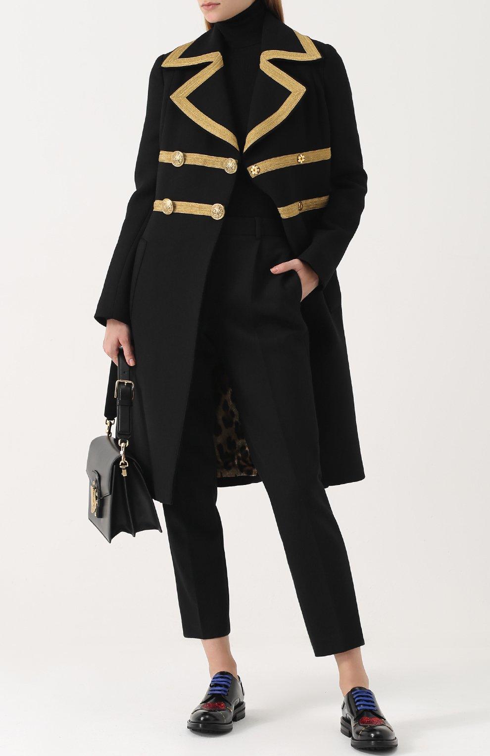 Вязаная водолазка из смеси кашемира и шелка Dolce & Gabbana черная | Фото №2