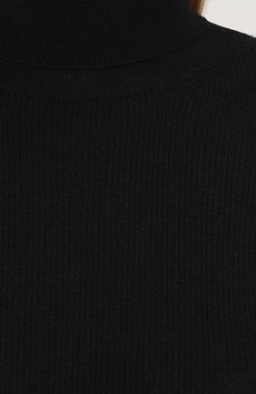 Вязаная водолазка из смеси кашемира и шелка Dolce & Gabbana черная | Фото №5