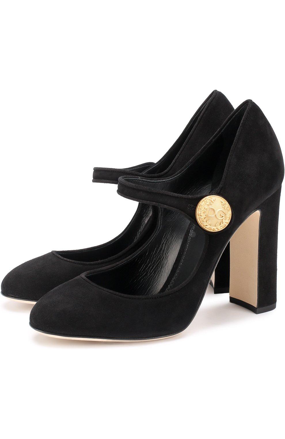 Замшевые туфли Vally на устойчивом каблуке   Фото №1