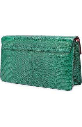 Сумка Lucia из тисненой кожи Dolce & Gabbana зеленая цвета | Фото №3