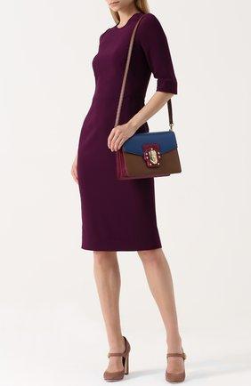 Сумка Lucia Dolce & Gabbana синяя цвета | Фото №2