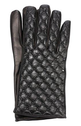 Кожаные перчатки Valentino Garavani с металлическими заклепками | Фото №1