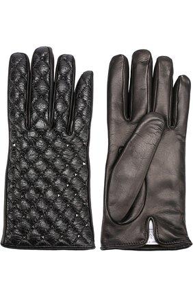 Кожаные перчатки Valentino Garavani с металлическими заклепками | Фото №2