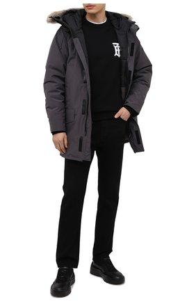Мужская пуховая парка langford с меховой отделкой CANADA GOOSE серого цвета, арт. 2062M | Фото 2 (Материал внешний: Синтетический материал; Материал подклада: Синтетический материал; Рукава: Длинные; Кросс-КТ: Куртка; Мужское Кросс-КТ: пуховик-короткий; Длина (верхняя одежда): До середины бедра; Материал утеплителя: Пух и перо)
