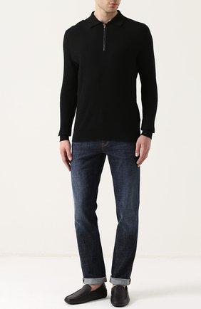 Мужские кожаные мокасины TOD'S темно-синего цвета, арт. XXM0GW0S570NLKU801 | Фото 2