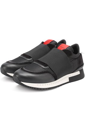 Комбинированные кроссовки с эластичной вставкой