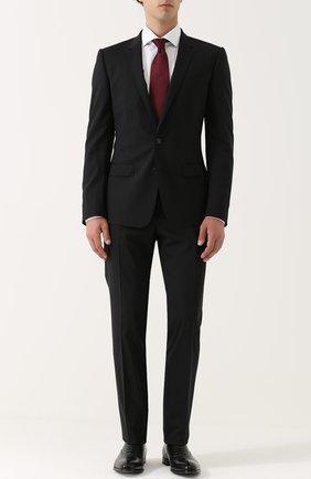 Мужской шерстяной костюм с пиджаком на двух пуговицах DOLCE & GABBANA черного цвета, арт. 0101/GK13MT/FUBBG | Фото 1