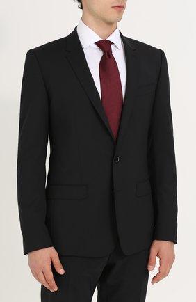 Мужской шерстяной костюм с пиджаком на двух пуговицах DOLCE & GABBANA черного цвета, арт. 0101/GK13MT/FUBBG | Фото 2