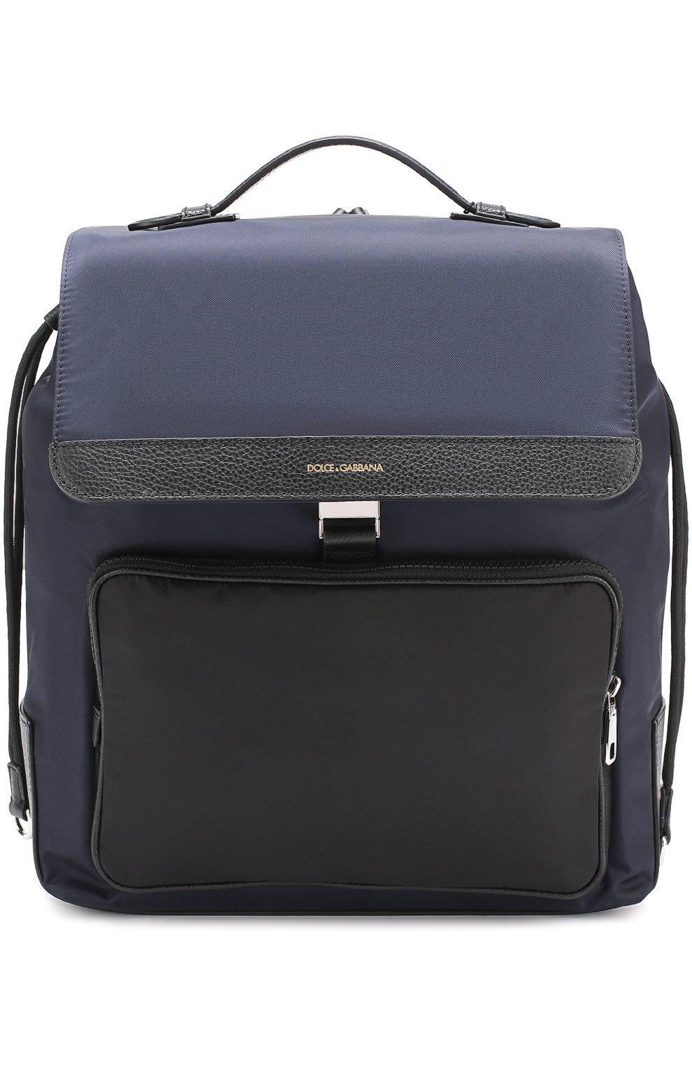 Текстильный рюкзак с внешним карманом на молнии   Фото №1