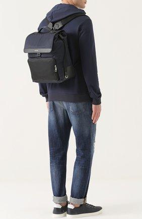 Текстильный рюкзак с внешним карманом на молнии   Фото №2