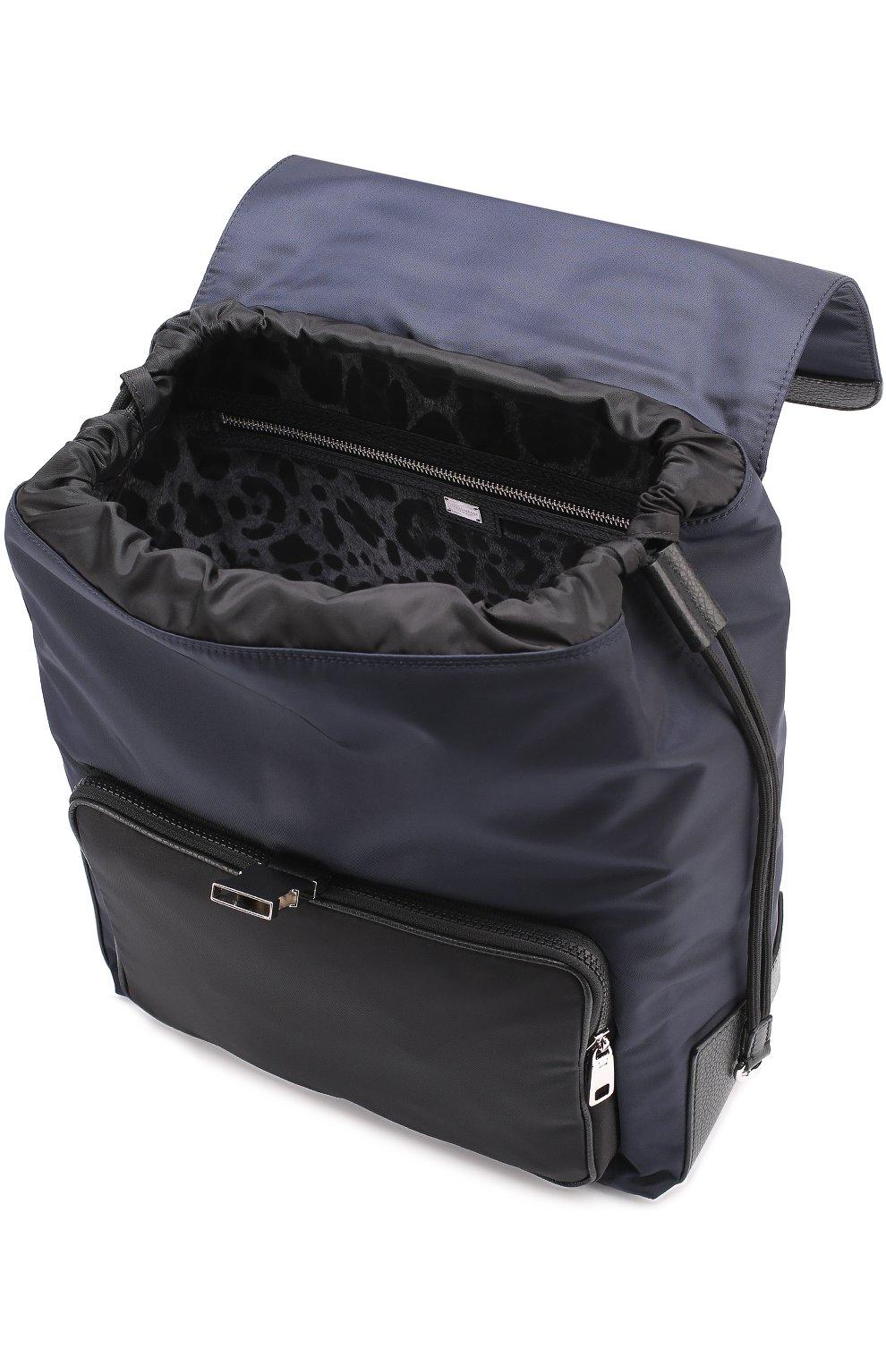 Текстильный рюкзак с внешним карманом на молнии   Фото №4